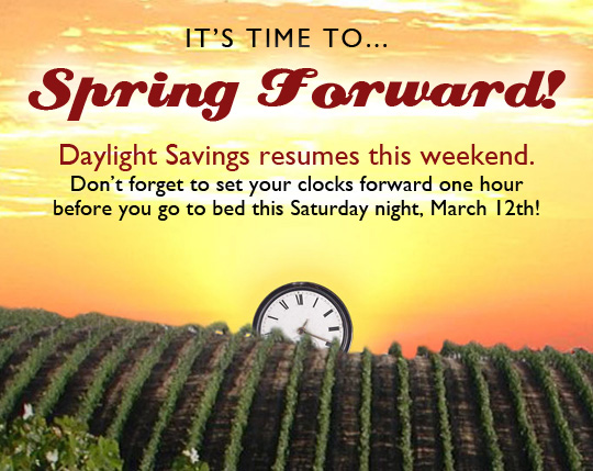 Don't Forget to Spring Forward this Weekend!